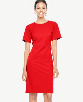 Ann Taylor Pleated Shoulder Knit Sheath Dress