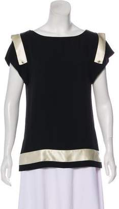 Chanel Silk Colorblock Top