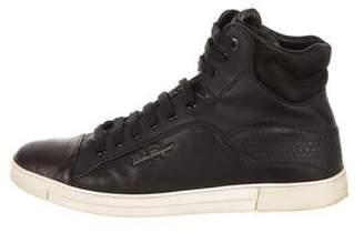Salvatore Ferragamo Sisto High-Top Sneakers