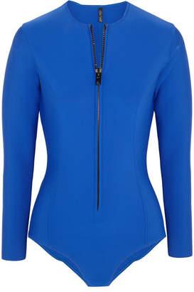 Lisa Marie Fernandez Farrah Neoprene Swimsuit - Royal blue