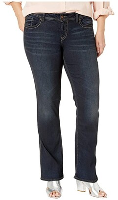 Silver Jeans Co. Plus Size Suki Mid-Rise Perfectly Curvy Slim Boot Jeans in Indigo W93616SSX405
