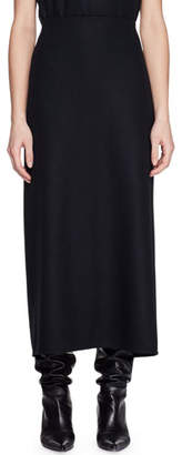 The Row Stratski A-Line Long Wool Skirt