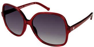 Colors In Optics Orifini II Round Gradient Sunglasses, Cherry