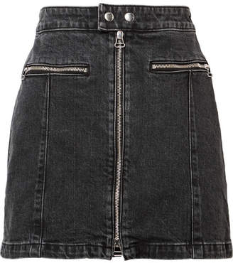 Rag & Bone Isabel Denim Mini Skirt - Black