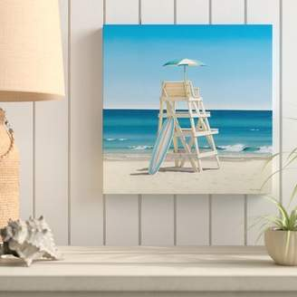 Highland Dunes 'Lifeguard Stand' Graphic Art Print on Wrapped Canvas