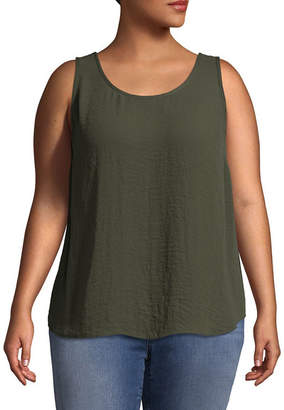 Boutique + + Woven Tank Top - Plus