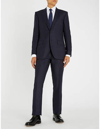Gieves & Hawkes Flecked tailored-fit wool suit