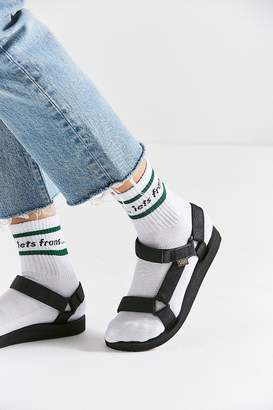 Out From Under UO iets frans... Striped Crew Sock