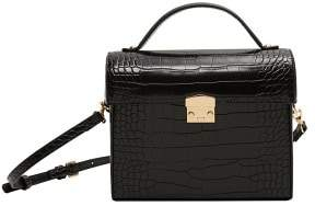 MANGO Croc-effect chest bag