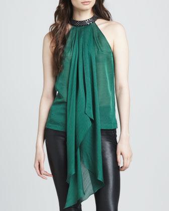 Robert Rodriguez Handkerchief Silk Halter Top