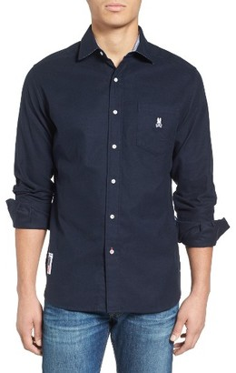 Men's Psycho Bunny Flannel Woven Shirt $125 thestylecure.com