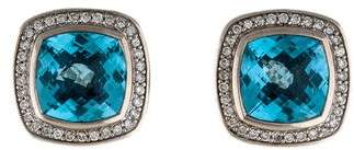 David Yurman Diamond & Blue Topaz Albion Earrings