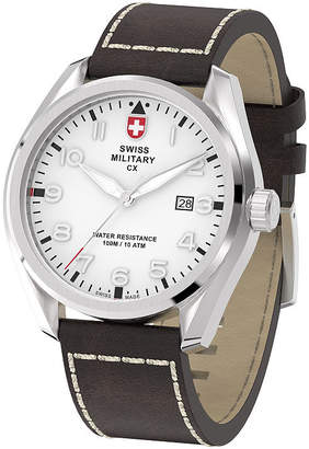 Swiss Military BY CHARMEX By Charmex Pilot Mens Brown Strap Watch-78333_11_C