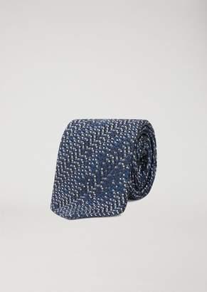 Emporio Armani Tie With Jacquard Pattern