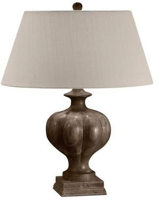 Lampworks Bonita Fluted Dark Solid Wood Table Lamp