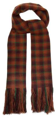 Isabel Marant Carlyna Check Cashmere Scarf - Womens - Brown