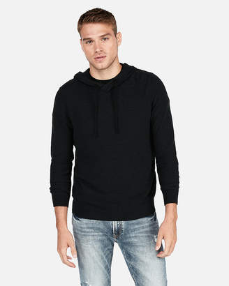 Express Textured Popover Hooded Sweater