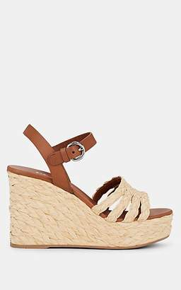 Prada Women's Leather Platform Espadrille Sandals - Naturale