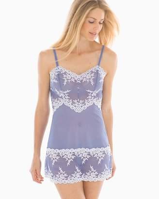 Wacoal Embrace Lace Sleep Chemise Bleached Denim/White
