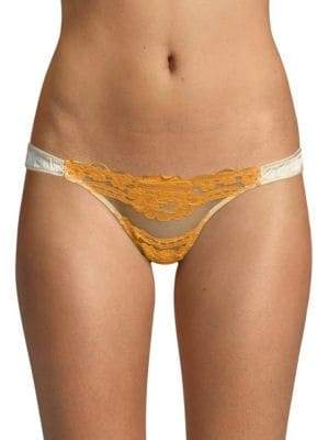 Mimi Holliday Lace Trim Thong