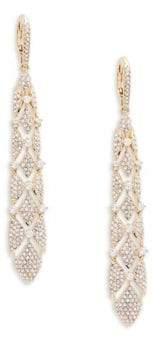 Adriana Orsini Naga Long Crystal Drop Earrings