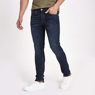 River Island Dark blue fade Sid skinny jeans
