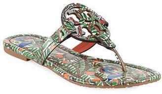 a2ed32e4270fdf Tory Burch Miller Printed Flat Thong Sandals