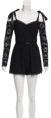Alexis Lace Long Sleeve Romper w/ Tags