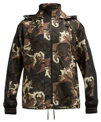 The Upside Ash Camouflage Print Hooded Jacket - Womens - Green Multi