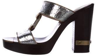Marc by Marc Jacobs Metallic Platform Sandals