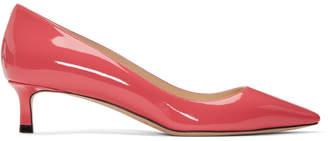 Jimmy Choo Pink Patent Romy 40 Kitten Heels