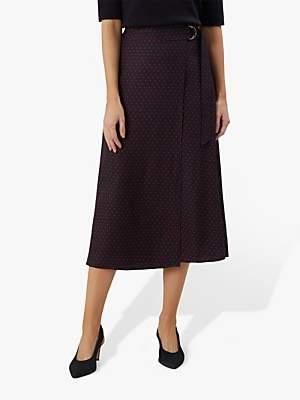 efa211a9cb Hobbs Carmel Skirt, Navy/Raspberry