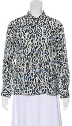 Gerard Darel Silk Long Sleeve Top