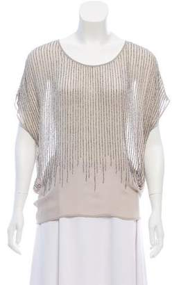 Joie Silk Beaded Top