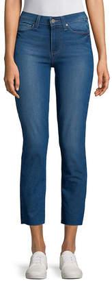 Paige Dylan Raw Hem Straight Jeans