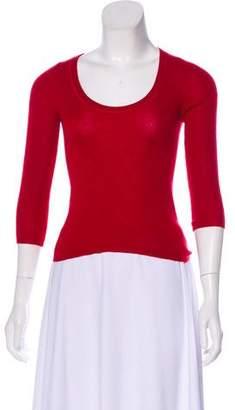 Prada Knit Three-Quarter Sleeve Top
