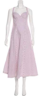 Creatures of Comfort Striped Sleeveless Maxi Dress