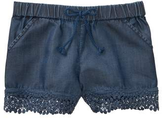 Crazy 8 Chambray Lace Trim Shorts