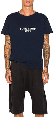 Willy Chavarria Being Cool Tee in Blue $130 thestylecure.com