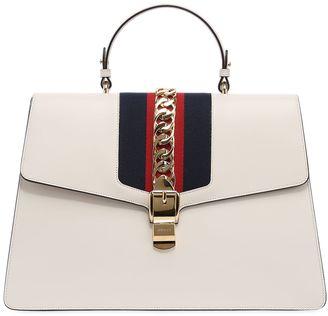 Gucci Maxi Sylvie Chain Detail Leather Bag