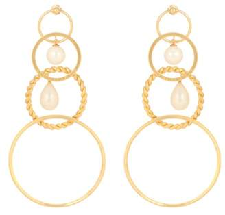 Y/Project Faux-pearl embellished earrings