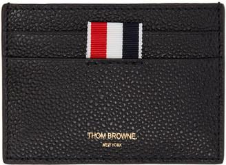 Thom Browne Black Single Card Holder $290 thestylecure.com