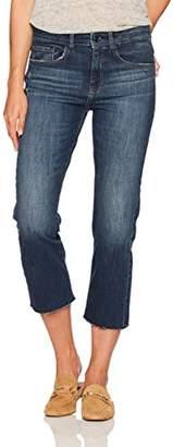 Madison Denim Women's Crosby Straight Leg Crop Jean with Cut Off Hem