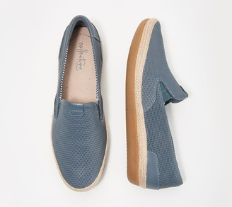 080220614e3 Clarks Collection Leather Slip-Ons - Danelly Iris