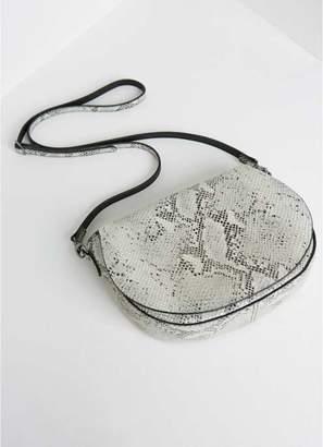Mint Velvet Nina Snake Print Saddle Bag
