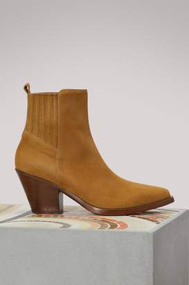 Sartore Leather Western ankle boots