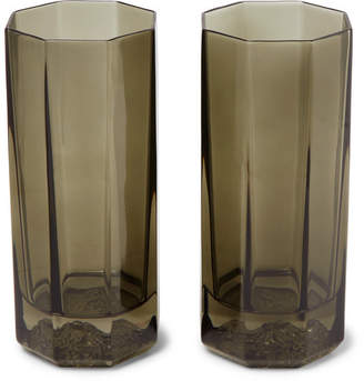 Versace Medusa Lumiere Haze Set Of Two Glass Tumblers - Clear