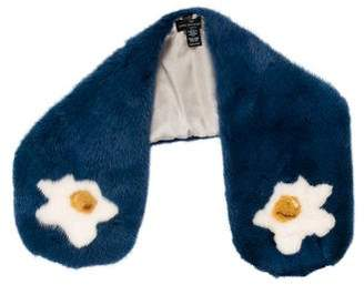 Anya Hindmarch Silk-Lined Mink Fur Stole