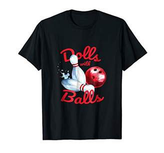 Bowling Team TShirt Dolls with Balls Women bowler Tee