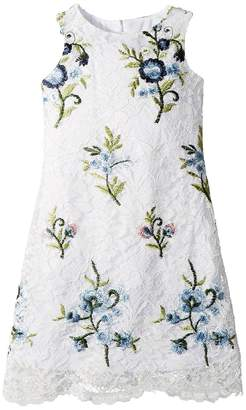 Us Angels Embroidered Lace Sheath Girl's Dress
